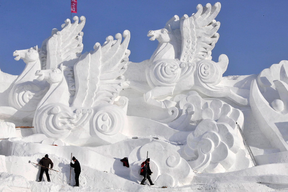 Image result for snow and ice festival china