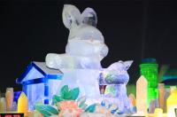 Rabbit Ice Sculpture in Harbin
