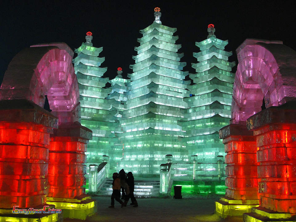 ice Pagoda in harbin