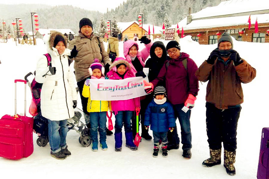 Malaysia Family Tour to China Snow Town in 2017