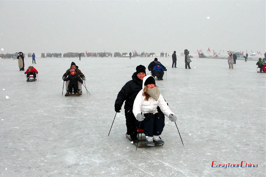 Ice sledge in Harbin
