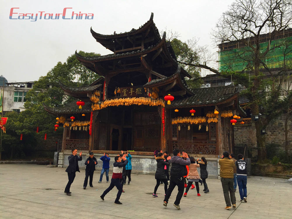 Tujia Nationality Hand-Waving Dance at Furong Village