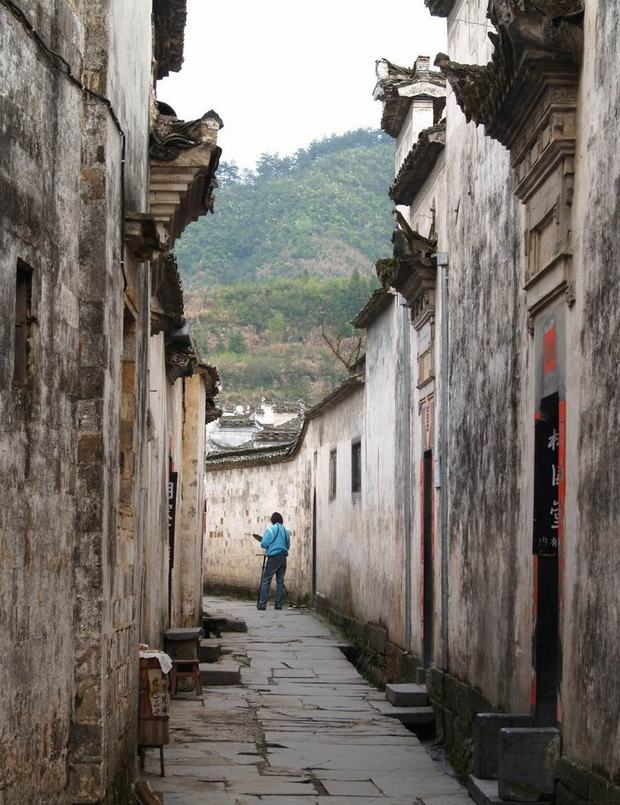 Hongcun and Xidi Village Alley