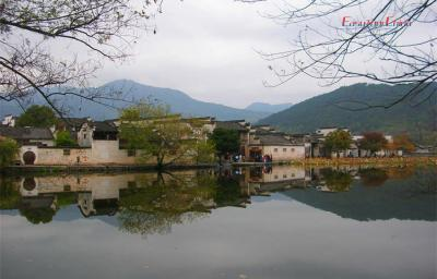 Beautiful Lake of Hongcun Village