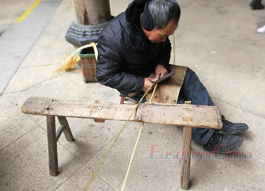 Lingshan Bamboo making