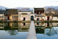The river-side Huizhou architecture dwellings