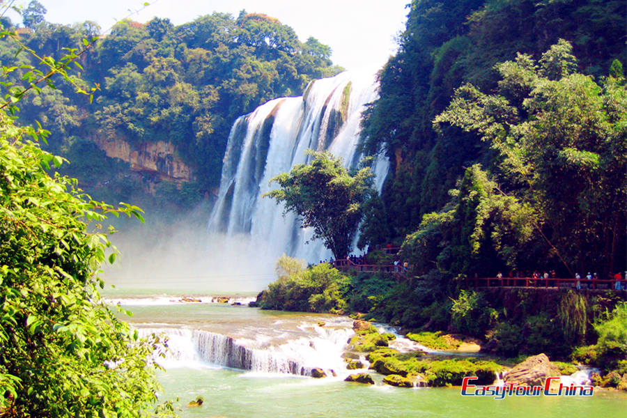 View the magnificent Huangguoshu Waterfall
