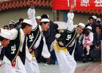 Travel Photos of Hui Minority Lads Dancing