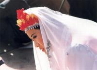 Travel Photos of Hui Minority Lady with White Mantilla