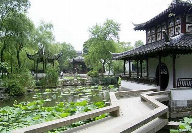 Chinese gardens bridge - Humble Administrator S Garden Zigzag Bridge Suzhou