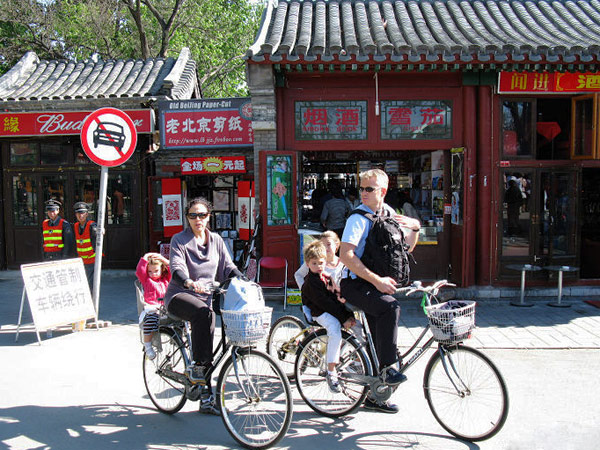 Hutongs Foreigners Biking