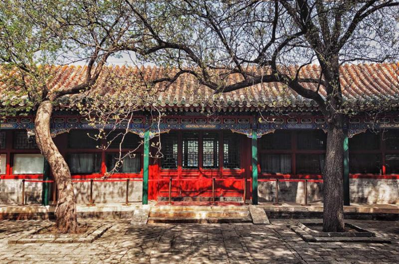 The old courtyard houses at Hutong of Beijing
