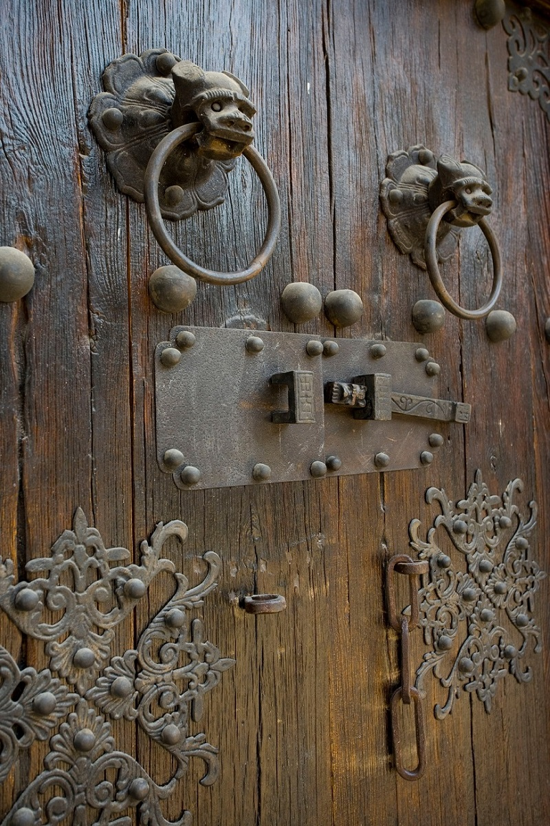 The Wooden Door in Beijing Hutong