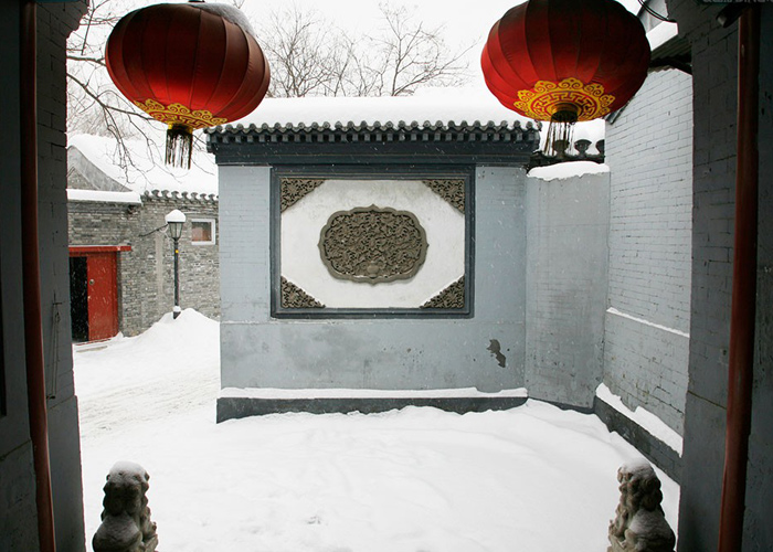 Red Lanterns in Old Beijing Hutong
