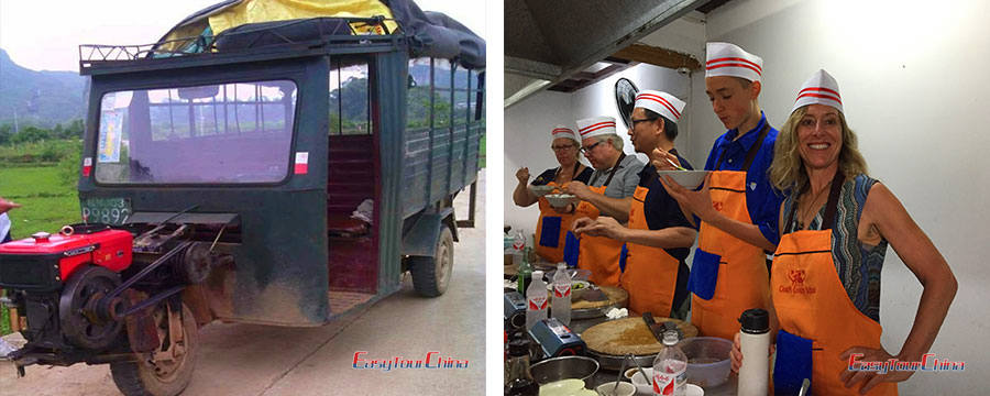Yangshuo tractor tour and cooking class