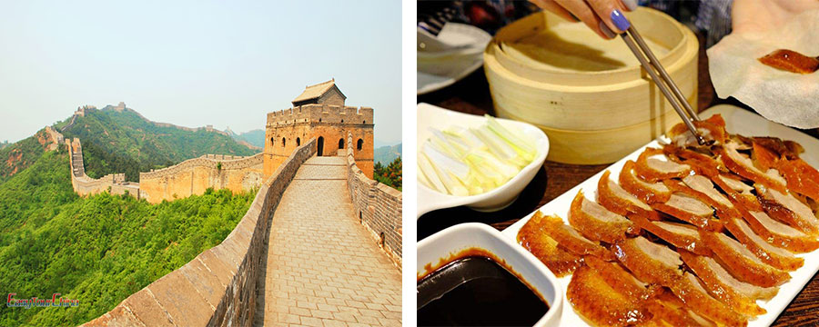 The Great Wall tour with Roast Duck dinner