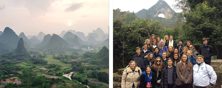 school tour in Guilin China
