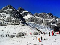 Jade Dragon Snow Mountain Landscape