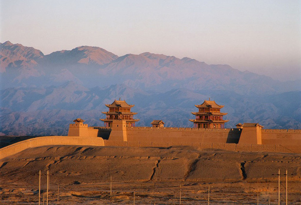 Jiayuguan Fort Sunset