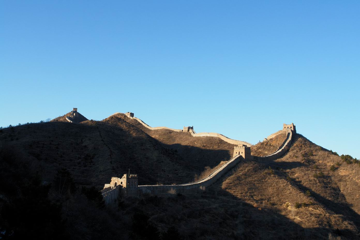 Jinshanling Great Wall Under the Rising Sun