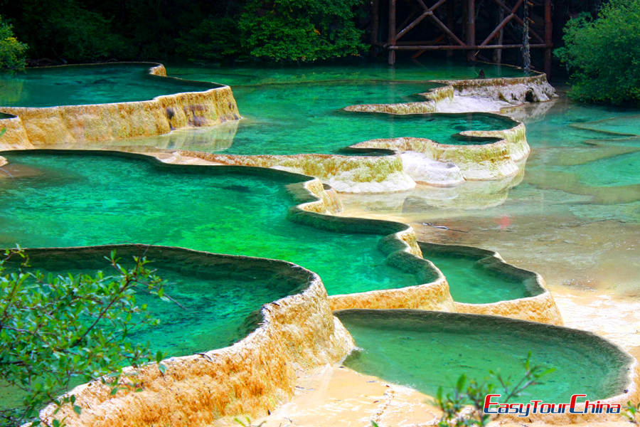 Terraced Pools of Huanglong Scenic Valley