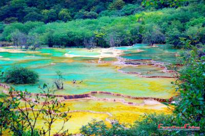 Colorful Calcite Pools of Huanglong