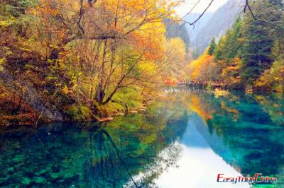 Jiuzhaigou Valley in Autumn