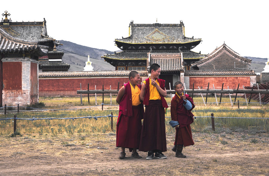 Young Monks in Erdenezuu Monastery