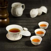 White Porcelain Tea Set for Keemun Black Tea