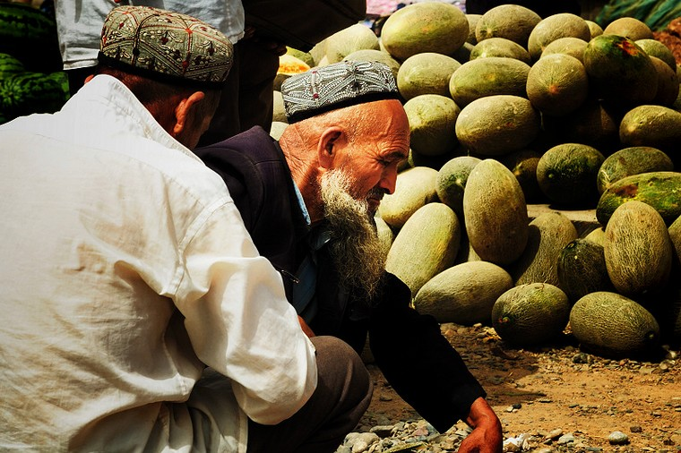 People Selling Hami Melon