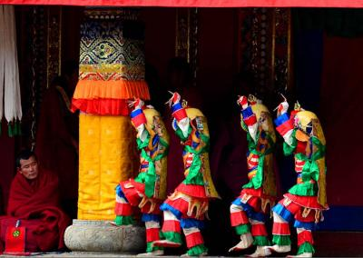 Religious Dance at Labrang Lamastery