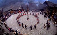 Langde Miao Village Locals Dancing