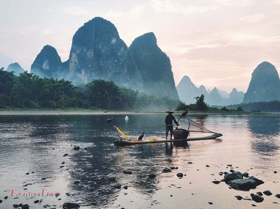 Guilin cormorant fishing