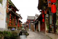 Charming lijiang ancient town
