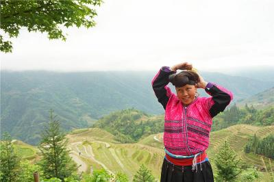 Yao Lady at Longji Rice Terraces