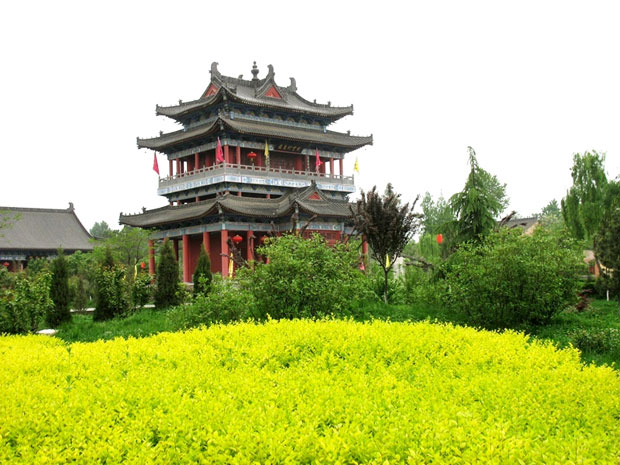 Louguantai Temple in Sping