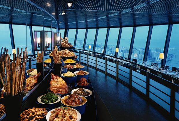 Macau Tower Revolving Restaurant Macau Attractions