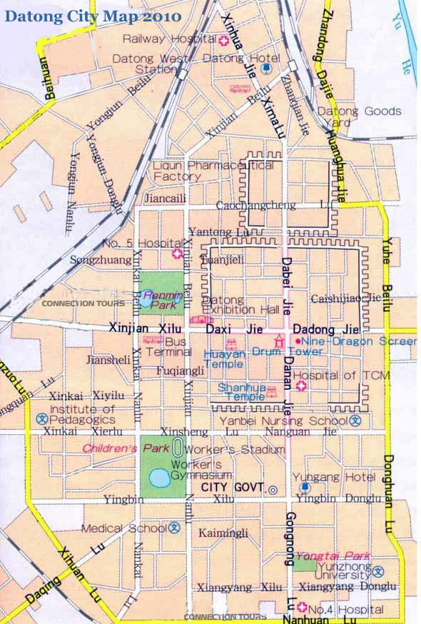 Updated Datong City Map