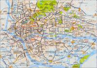 Detailed Tourist Map of Guangzhou in English and Chinese Easy Tour
