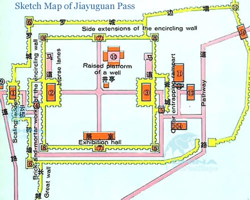 Sketch Map of Jiayuguan Pass