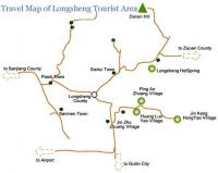 Travel Map of Longji Tourist Area