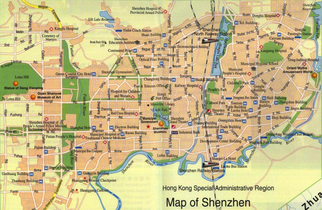 Detailed traffic map of shenzhen shenzhen tour tours in shenzhen detailed traffic map of shenzhen gumiabroncs Choice Image