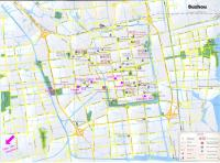 Detailed Suzhou Map with Vivid Legends
