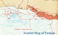 Turpan Tourist Map with Vivid Legends