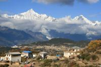 Tibetan Village & Mountain