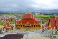 Panorama View of Mengle Great Buddha Temple