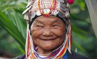 Old Lady in Meo Hill Tribe Village