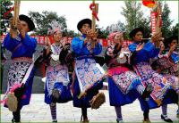 Travel Photos of Miao Minority Reed-pope Wind Instrument Playing
