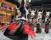 Travel Photos of Miao Minority Dancer Circling