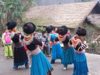 Travel Photos of Miao Minority Children Dancing